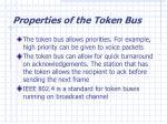 properties of the token bus1