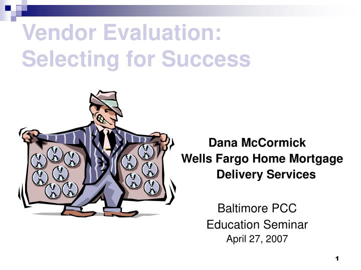 vendor evaluation selecting for success n.