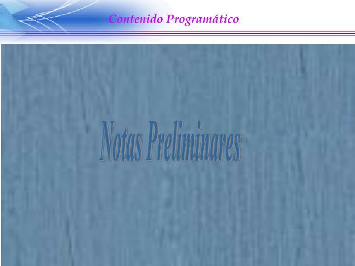 Contenido Programático