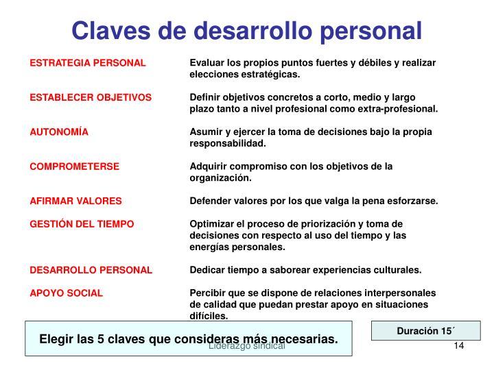 Claves de desarrollo personal