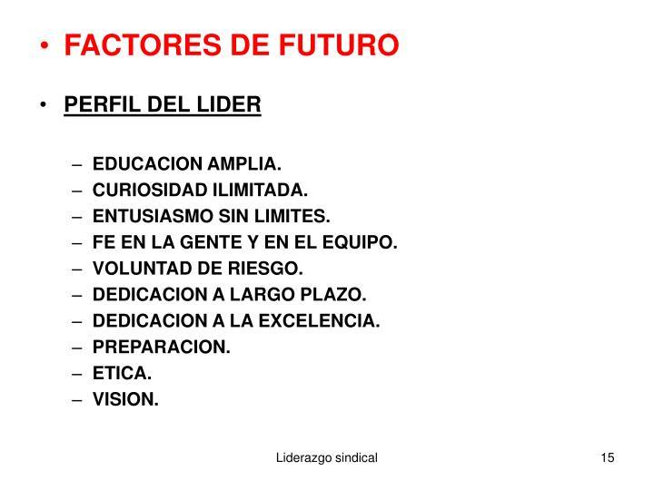 FACTORES DE FUTURO