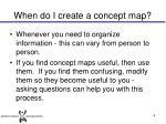 when do i create a concept map