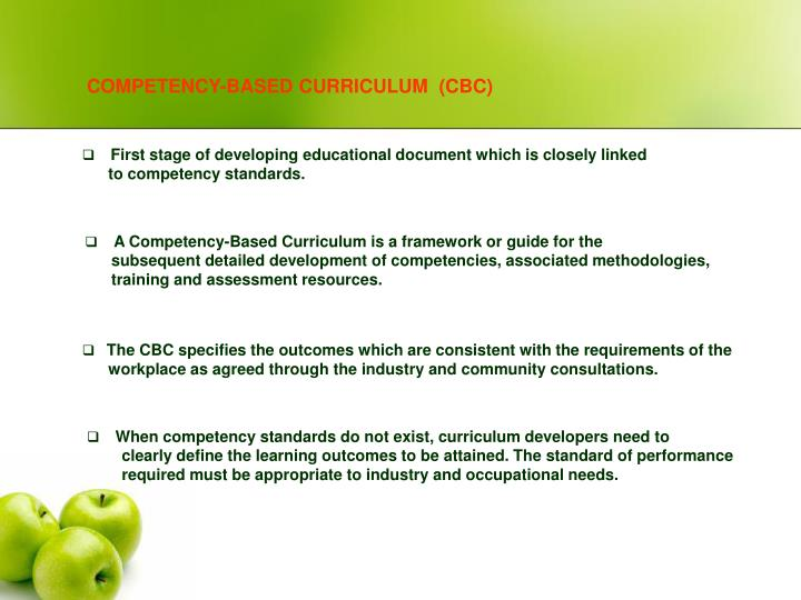 COMPETENCY-BASED CURRICULUM  (CBC)