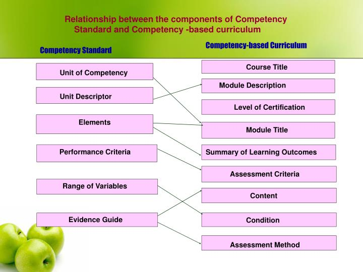Relationship between the components of Competency