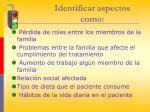 identificar aspectos como