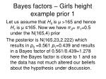 bayes factors girls height example prior 1