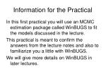 information for the practical