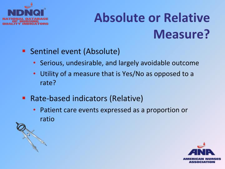 Absolute or Relative Measure?
