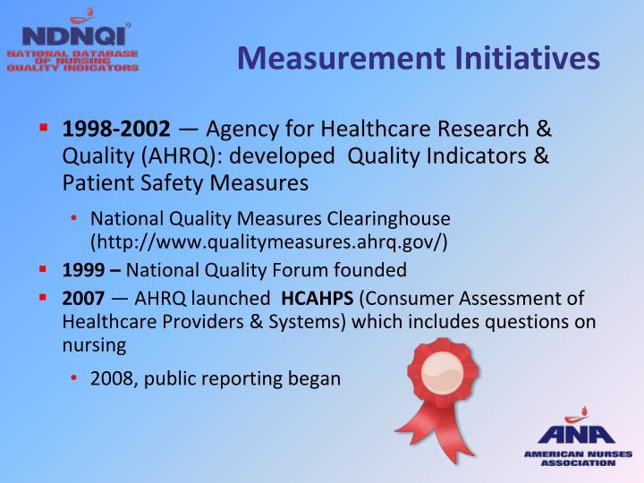 Measurement Initiatives