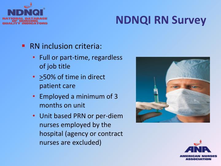 NDNQI RN Survey