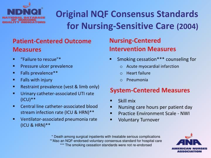 Original NQF Consensus Standards