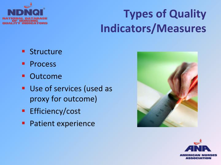 Types of Quality Indicators/Measures