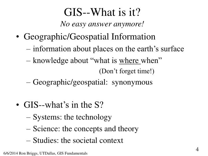 GIS--What is it?