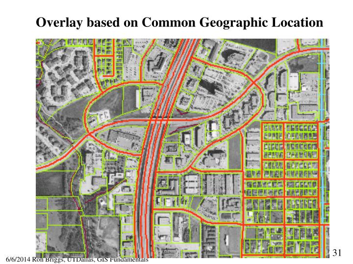 Overlay based on Common Geographic Location
