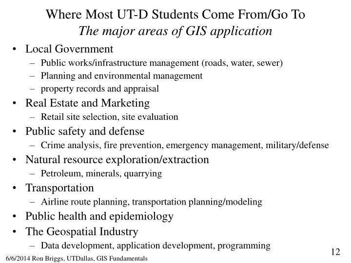 Where Most UT-D Students Come From/Go To