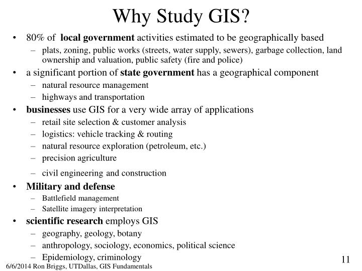Why Study GIS?