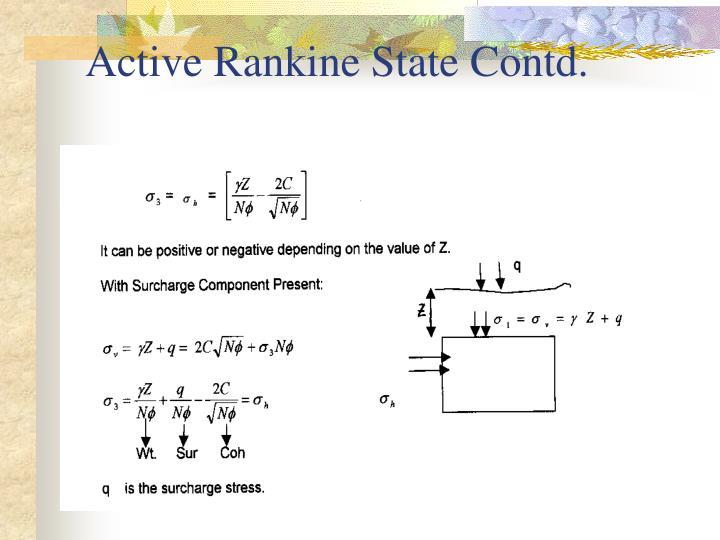 Active Rankine State Contd.