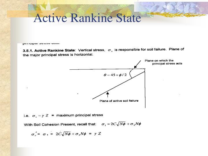 Active Rankine State