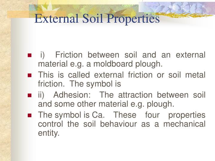 External soil properties