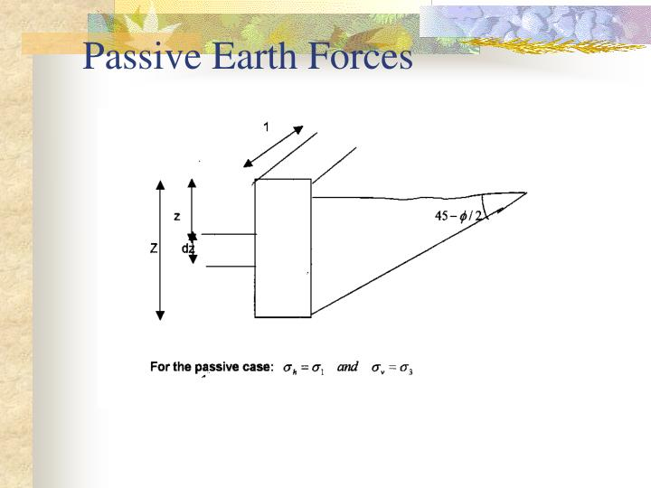 Passive Earth Forces
