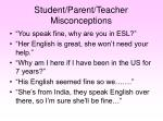 student parent teacher misconceptions