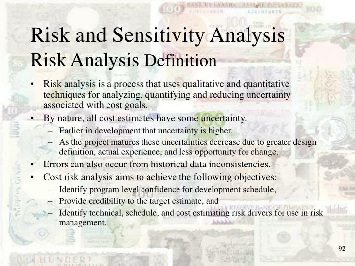 Risk and Sensitivity Analysis