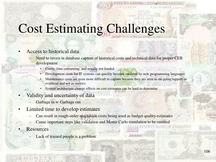 Cost Estimating Challenges