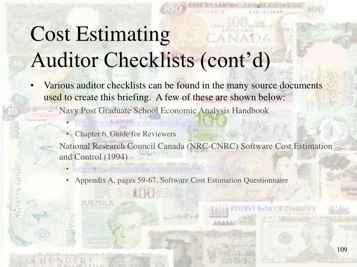 Cost Estimating