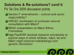solutions re solutions cont d p tai ora 2006 discussion points