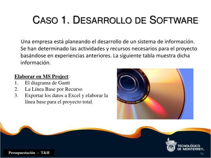 Caso 1. Desarrollo de Software