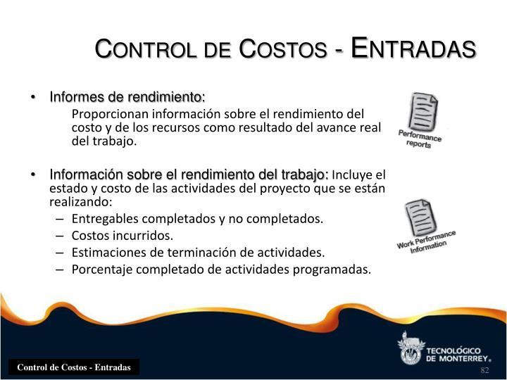 Control de Costos -