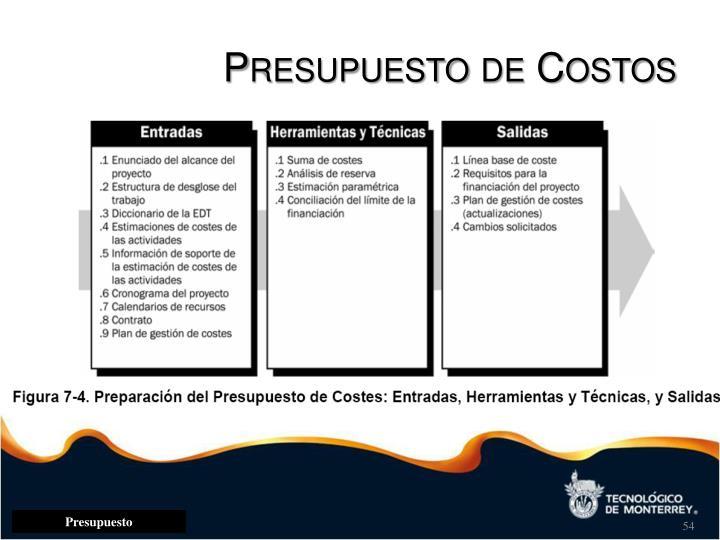 Presupuesto de Costos
