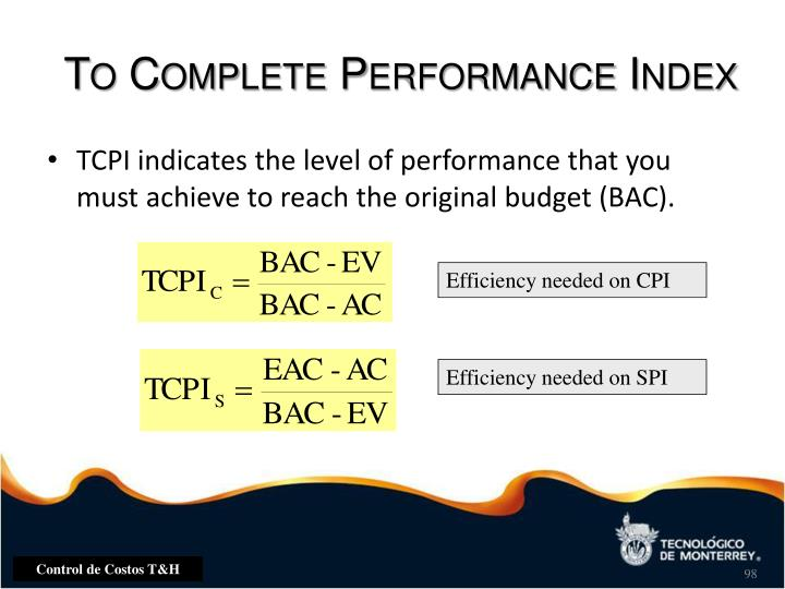 To Complete Performance Index