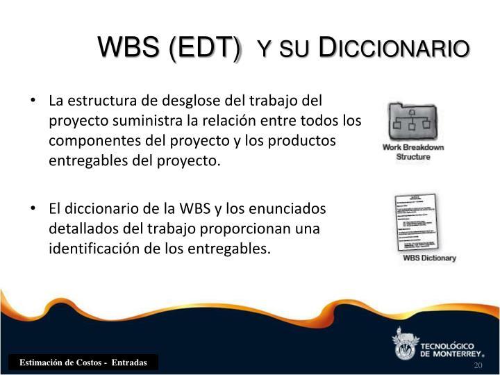 WBS (EDT)  y su Diccionario