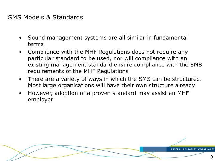 SMS Models & Standards