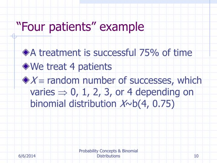 """Four patients"" example"