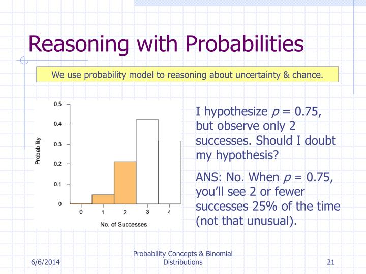 Reasoning with Probabilities