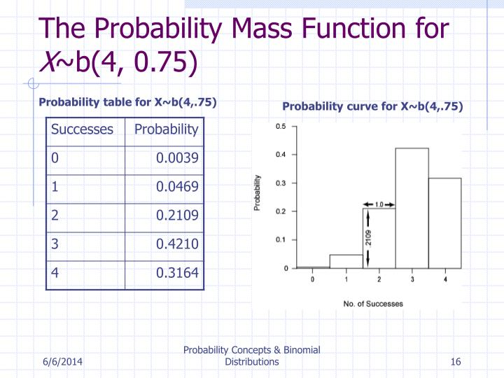 The Probability Mass Function for