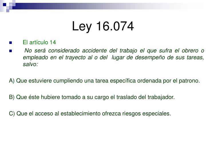 Ley 16.074