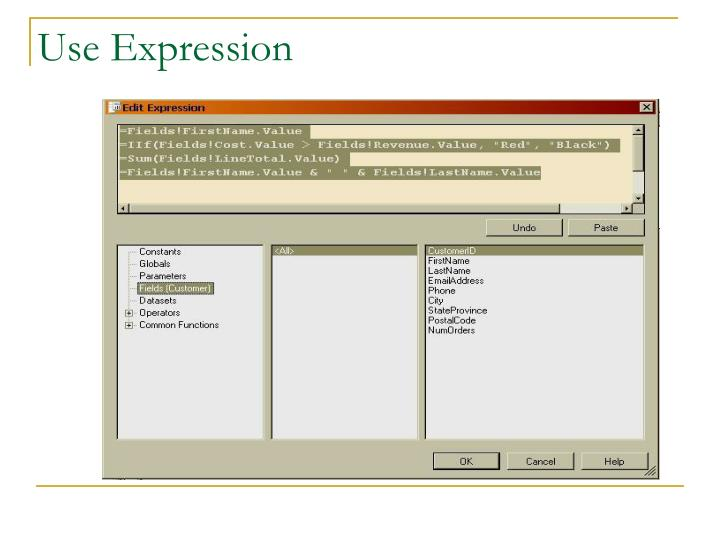 Use Expression