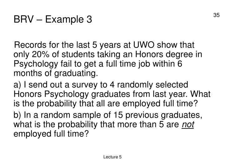 BRV – Example 3