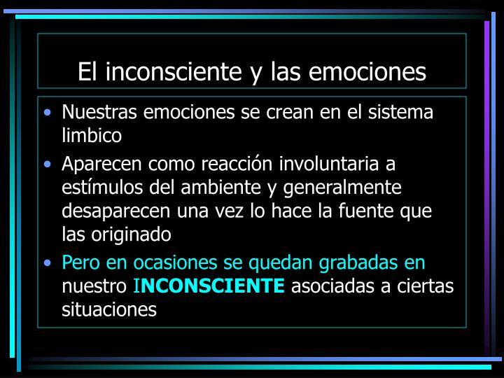 El inconsciente y las emociones