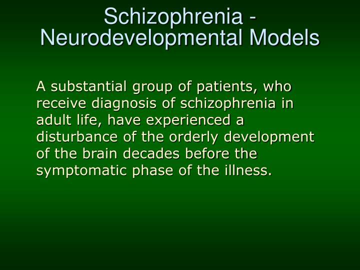 Schizophrenia - Neurodevelopmental Models
