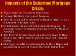 impacts of the subprime mortgage crisis
