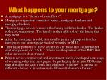 what happens to your mortgage