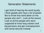 generation statements2