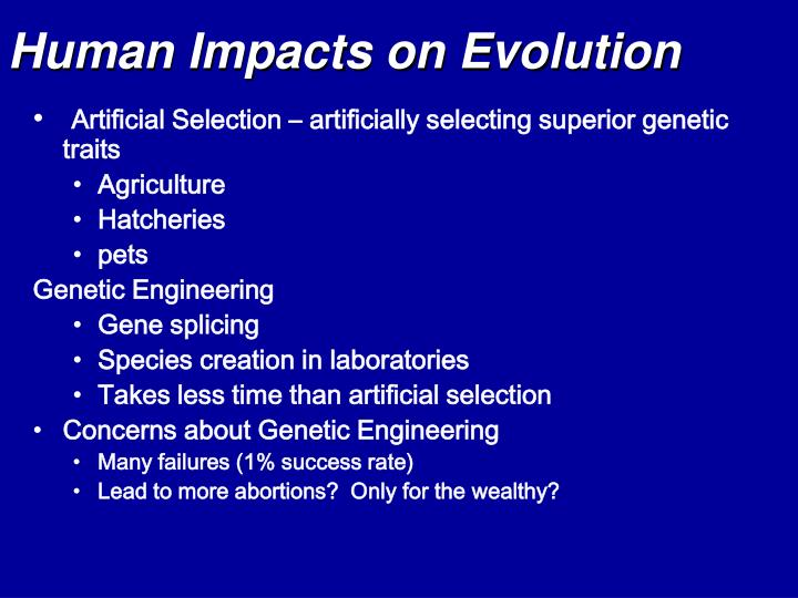 Human Impacts on Evolution