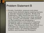 problem statement b