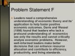 problem statement f2