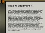 problem statement f3
